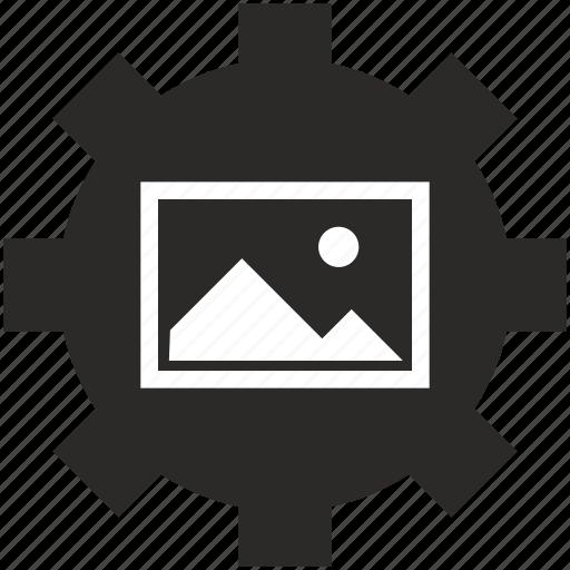 image, img, option, photo, picture, settings, slide icon