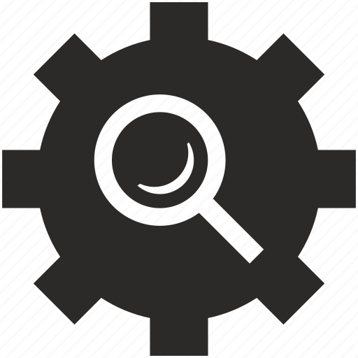 find, instrument, loop, magnifier, option, search, settings icon