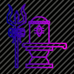 rudraksh, shiva, shivling, spiritual, thirdeye, trident, trishula icon