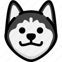 dog, emoji, emotion, expression, face, feeling, grinning icon