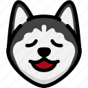 emoji, emotion, expression, face, feeling, relax, siberian husky