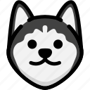 dog, emoji, emotion, expression, face, feeling, smile icon