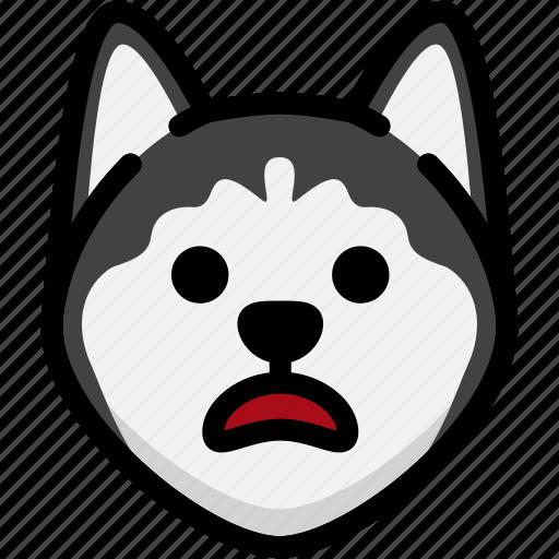 emoji, emotion, expression, face, feeling, siberian husky, stunning icon