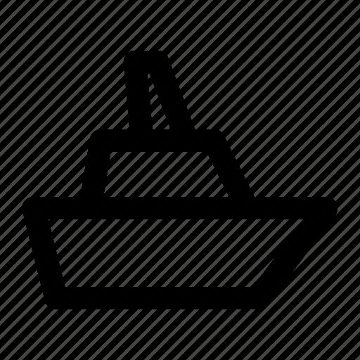 container, cruise, ship icon