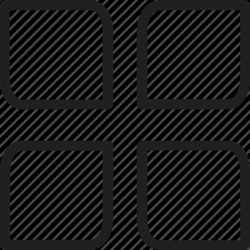 archive, copy paste, display, overlap, overlap line icon