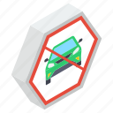 car ban, car forbidden, car prohibition, stop car, vehicle restriction icon