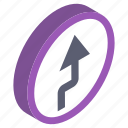 direction arrow, left turn, return symbol, road sign, turn sign icon