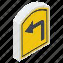 direction arrow, return, right turn, turn sign, u turn
