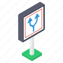 arrow, ban, direction, prohibition, return, sign icon