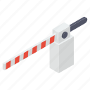 entry barrier, entry gate, obstacle, road barrier, traffic barrier icon