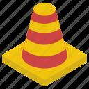 construction pin, hazard cone, road cone, safety cone, traffic cone icon