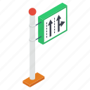 direction arrow, road sign, road signboard, road symbol, roadway icon