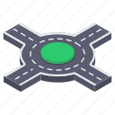 crossway, highway, junction, road intersection, traffic road icon