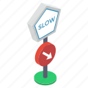 guidepost, road arrow, road direction, road guide, slow speed symbol icon