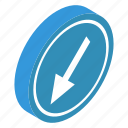 arrow emblem, arrow symbol, direction arrow, direction symbol, road sign icon