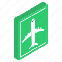 airplane symbol, airport area, airport sign, airport symbol, flight sign icon