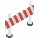 barrier, construction barricade, entry barrier, obstacle, safety barrier icon