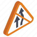 alternative road, bifurcation road, road direction, road symbol, roadway icon