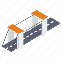 bridge, bridge base, bridge platform, flyover, overpass, suspension bridge icon