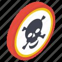 danger sign, danger symbol, hazard symbol, jolly roger, road danger icon
