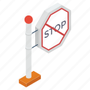 sign, stop emblem, direction, stop banner, stop symbol