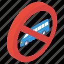 stop van, van forbidden, van prohibition, vehicle restriction, wagon ban icon