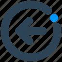 arrow, direction, forward, left, sign icon