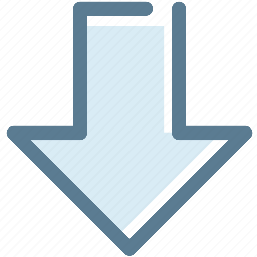 arrow, backward, behind, bottom, down, navigation, sign icon
