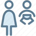 diaper, mom, navigation, parent, person, sign, toilet icon