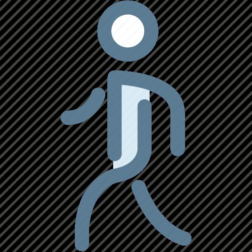 man, navigation, pedestrian, person, sign, walk, walking icon