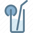 drink, glass, lemon, lime, navigation, sign, soda icon