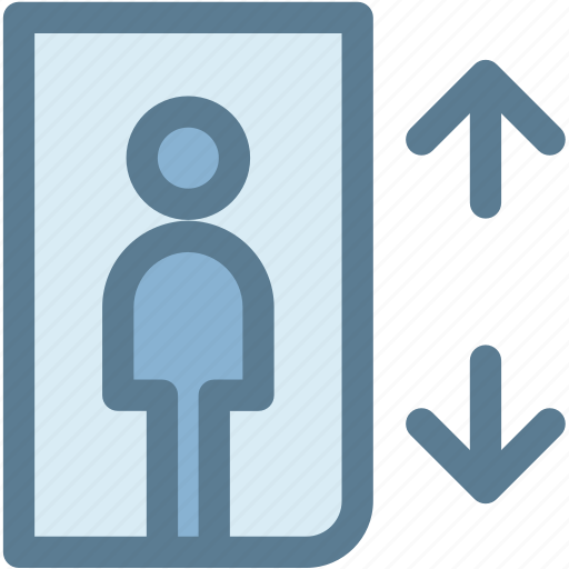 elevator, floors, lift, load, machine, navigation, sign icon