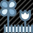 flowers, garden, gardening, grass, nature, navigation, sign icon