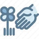 flower, garden, gardener, hand, navigation, plant, sign icon
