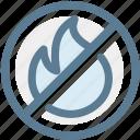 do not start fire, fire, flame, navigation, no fire, rule, sign