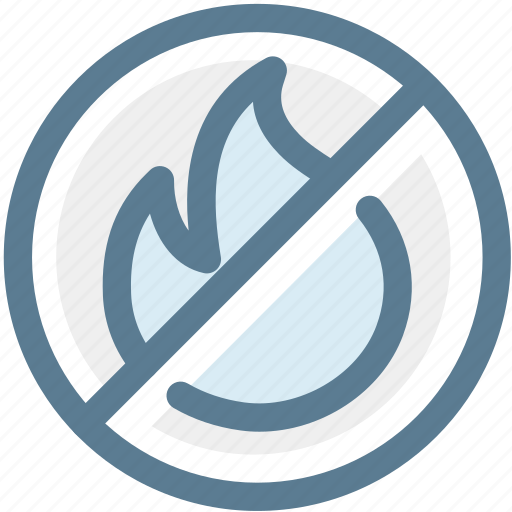 do not start fire, fire, flame, navigation, no fire, rule, sign icon