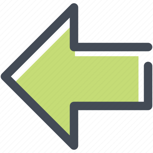 arrow, back, direction, left, move, navigation, sign icon