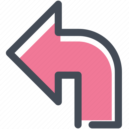 arrow, directions, intersection, navigate, navigation, sign, turn left icon