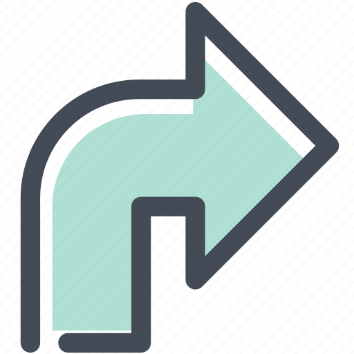 arrow, directions, intersection, navigate, navigation, sign, turn right icon