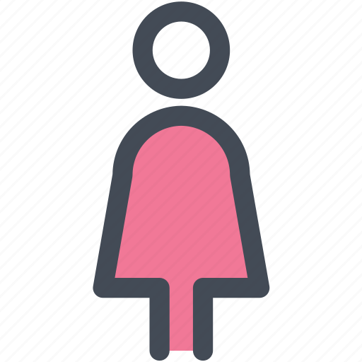female, human, lady, navigation, sign, toilet icon