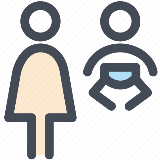 diaper, mom, navigation, parent, person, sign, toilet icon