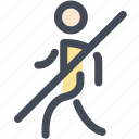 cannot, navigation, no, no walking, pedestrian, sign, walking icon