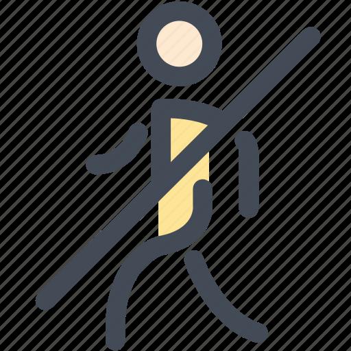 cannot, navigation, no, no walking, pedestrian, sign, walking icon