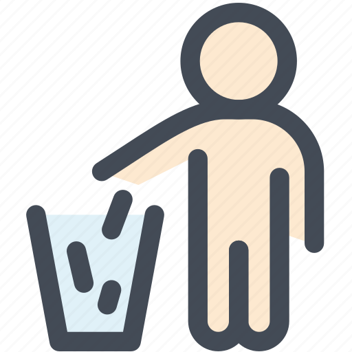 bin, can, garbage, navigation, recycle, sign, trash icon