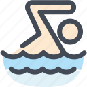 human, navigation, sign, sport, swim, swimming, swimming pool icon
