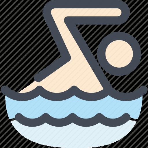 Human, navigation, sign, sport, swim, swimming, swimming pool icon - Download on Iconfinder