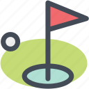 field, flag, golf, golf club, golf course, navigation, sign icon