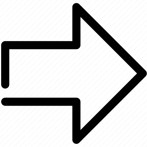 arrow, direction, indicator, lines, next, right, sign icon