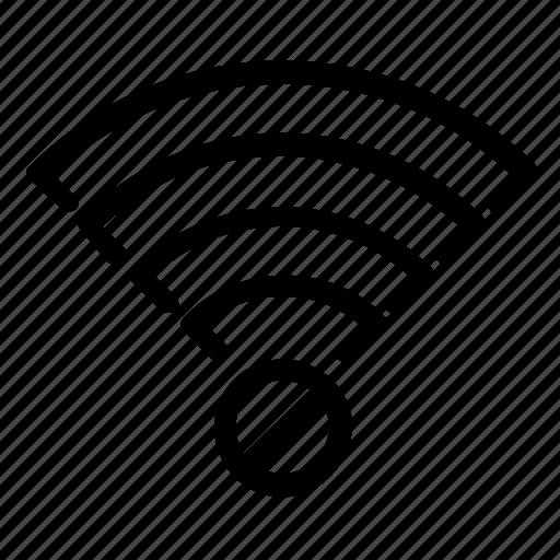 Delete Disconnect Internet Wifi Icon