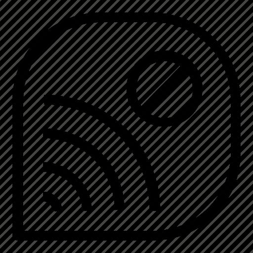 Delete Disconnect Wifi Icon
